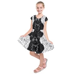 Cute Bulldog Kids  Short Sleeve Dress by Valentinaart