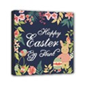 Happy Easter Egg Hunt Flower Mini Canvas 6  x 6  (Framed) View1