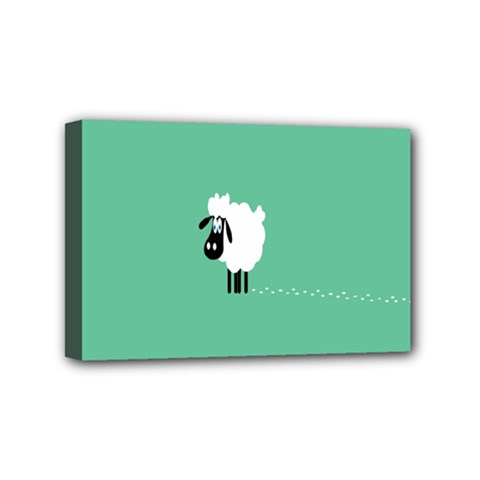 Sheep Trails Curly Minimalism Mini Canvas 6  X 4  by Simbadda