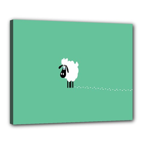 Sheep Trails Curly Minimalism Canvas 20  X 16  by Simbadda