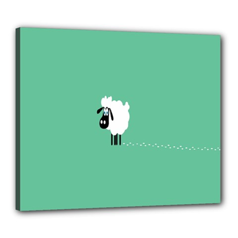 Sheep Trails Curly Minimalism Canvas 24  X 20  by Simbadda