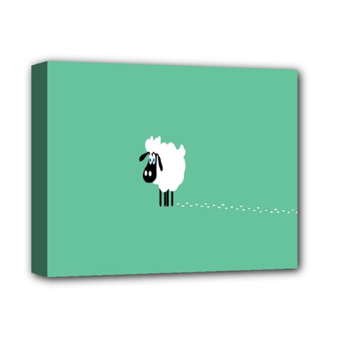 Sheep Trails Curly Minimalism Deluxe Canvas 14  X 11  by Simbadda