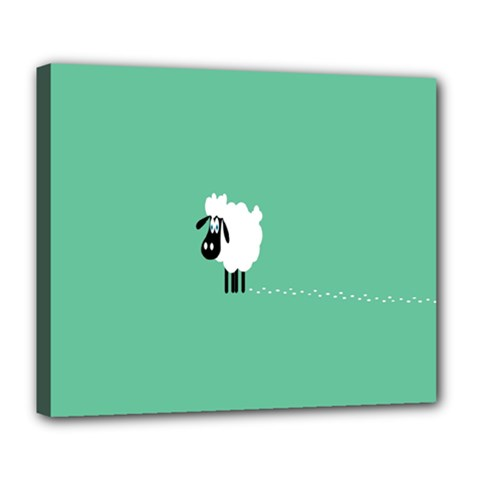 Sheep Trails Curly Minimalism Deluxe Canvas 24  X 20   by Simbadda