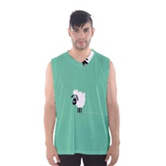 Sheep Trails Curly Minimalism Men s Basketball Tank Top by Simbadda