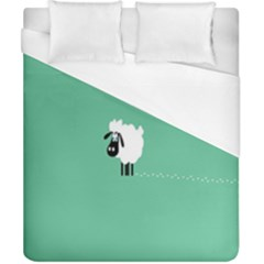 Sheep Trails Curly Minimalism Duvet Cover (california King Size) by Simbadda
