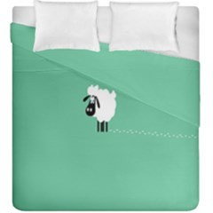 Sheep Trails Curly Minimalism Duvet Cover Double Side (king Size) by Simbadda
