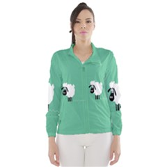 Sheep Trails Curly Minimalism Wind Breaker (women)