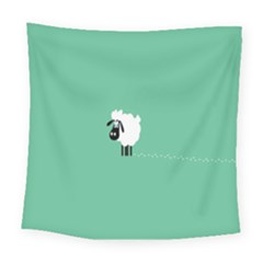 Sheep Trails Curly Minimalism Square Tapestry (large) by Simbadda
