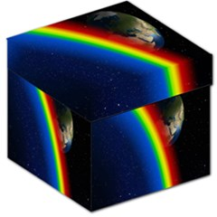 Rainbow Earth Outer Space Fantasy Carmen Image Storage Stool 12   by Simbadda