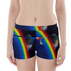 Rainbow Earth Outer Space Fantasy Carmen Image Boyleg Bikini Wrap Bottoms