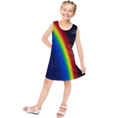 Rainbow Earth Outer Space Fantasy Carmen Image Kids  Tunic Dress by Simbadda