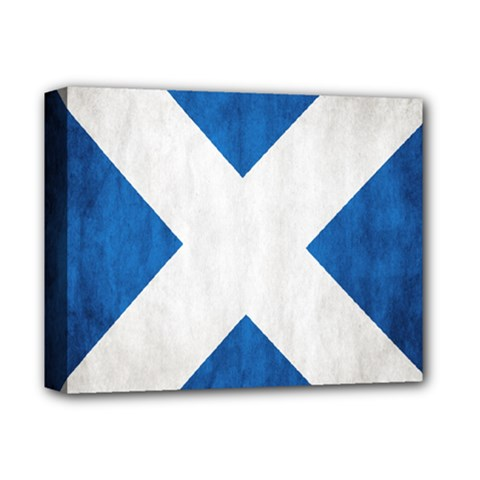 Scotland Flag Surface Texture Color Symbolism Deluxe Canvas 14  X 11  by Simbadda