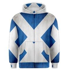 Scotland Flag Surface Texture Color Symbolism Men s Zipper Hoodie by Simbadda