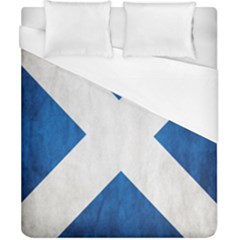 Scotland Flag Surface Texture Color Symbolism Duvet Cover (california King Size) by Simbadda
