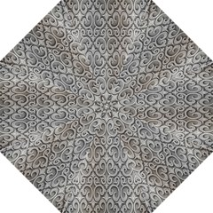 Patterns Wavy Background Texture Metal Silver Hook Handle Umbrellas (large) by Simbadda