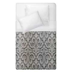 Patterns Wavy Background Texture Metal Silver Duvet Cover (single Size) by Simbadda