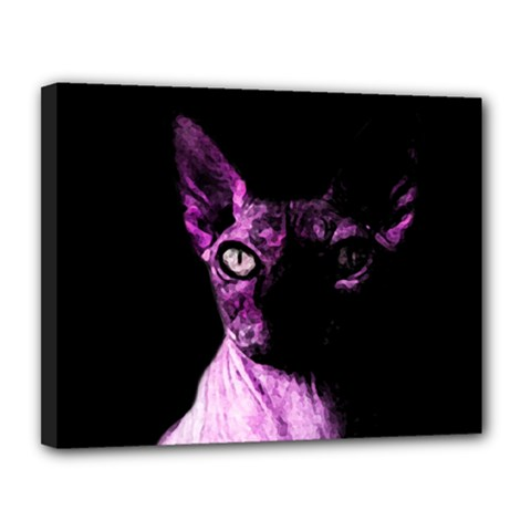 Pink Sphynx Cat Canvas 14  X 11  by Valentinaart