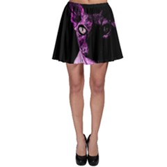 Pink Sphynx Cat Skater Skirt by Valentinaart