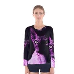 Pink Sphynx Cat Women s Long Sleeve Tee by Valentinaart