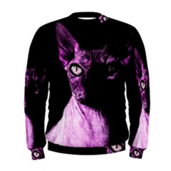 Pink Sphynx Cat Men s Sweatshirt by Valentinaart