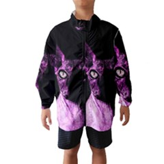 Pink Sphynx Cat Wind Breaker (kids) by Valentinaart