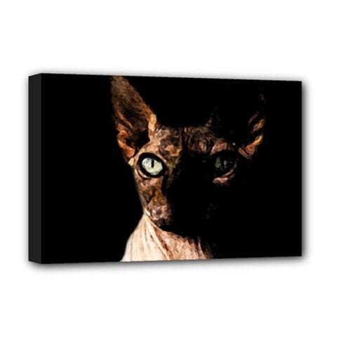 Sphynx Cat Deluxe Canvas 18  X 12   by Valentinaart
