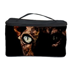 Sphynx Cat Cosmetic Storage Case by Valentinaart