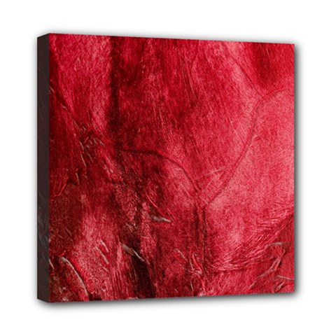 Red Background Texture Mini Canvas 8  X 8  by Simbadda
