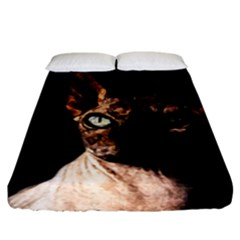 Sphynx Cat Fitted Sheet (california King Size) by Valentinaart