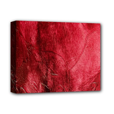 Red Background Texture Deluxe Canvas 14  X 11  by Simbadda