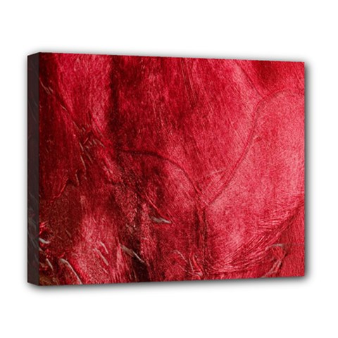 Red Background Texture Deluxe Canvas 20  X 16   by Simbadda