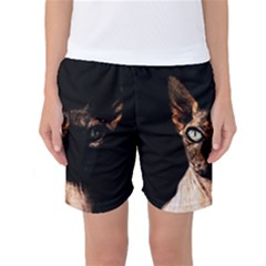 Sphynx Cat Women s Basketball Shorts by Valentinaart