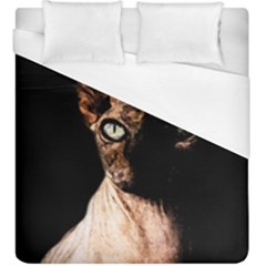 Sphynx Cat Duvet Cover (king Size) by Valentinaart