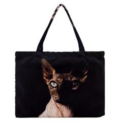 Sphynx Cat Medium Zipper Tote Bag by Valentinaart