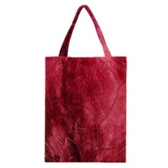 Red Background Texture Classic Tote Bag by Simbadda