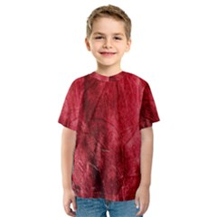 Red Background Texture Kids  Sport Mesh Tee