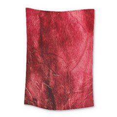 Red Background Texture Small Tapestry by Simbadda