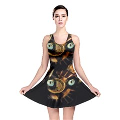 Sphynx Cat Reversible Skater Dress by Valentinaart