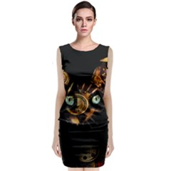 Sphynx Cat Classic Sleeveless Midi Dress by Valentinaart