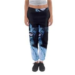 Blue Sphynx Cat Women s Jogger Sweatpants by Valentinaart