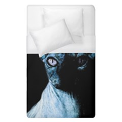 Blue Sphynx Cat Duvet Cover (single Size) by Valentinaart