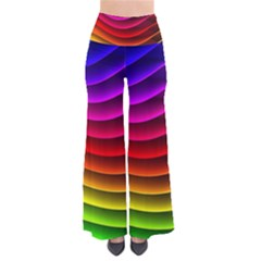 Spectrum Rainbow Background Surface Stripes Texture Waves Pants by Simbadda