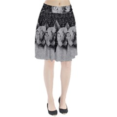 Sphynx Cat Pleated Skirt by Valentinaart