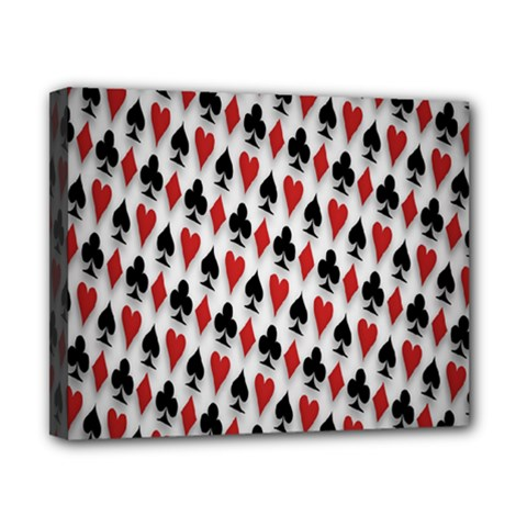 Suit Spades Hearts Clubs Diamonds Background Texture Canvas 10  X 8  by Simbadda