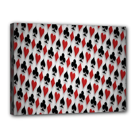 Suit Spades Hearts Clubs Diamonds Background Texture Canvas 16  X 12  by Simbadda