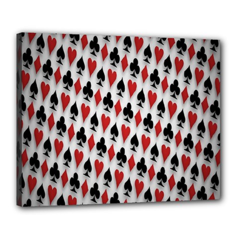 Suit Spades Hearts Clubs Diamonds Background Texture Canvas 20  X 16  by Simbadda
