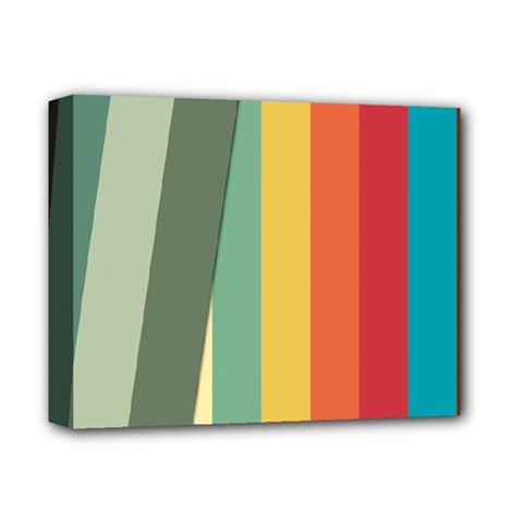 Texture Stripes Lines Color Bright Deluxe Canvas 14  X 11  by Simbadda
