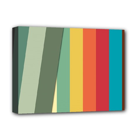 Texture Stripes Lines Color Bright Deluxe Canvas 16  X 12   by Simbadda