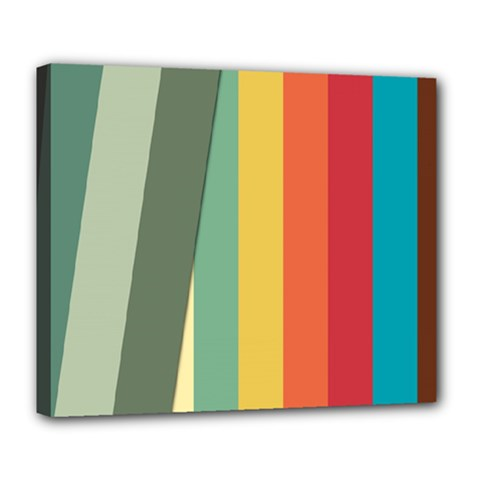 Texture Stripes Lines Color Bright Deluxe Canvas 24  X 20   by Simbadda