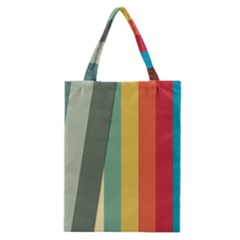 Texture Stripes Lines Color Bright Classic Tote Bag by Simbadda
